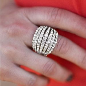 Cute fashion statement white ring